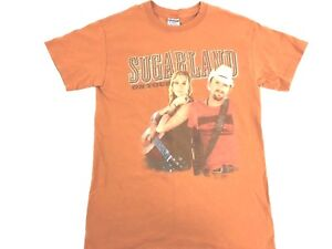 Sugarland-Shirt-Country-Music-Concert-Shirt-Band-Tee-Sugarland-Texas-Orange-S