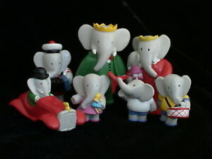 French-Babar-and-Babar-Family-Figurines-PVC-Celeste-Cornelius-Children