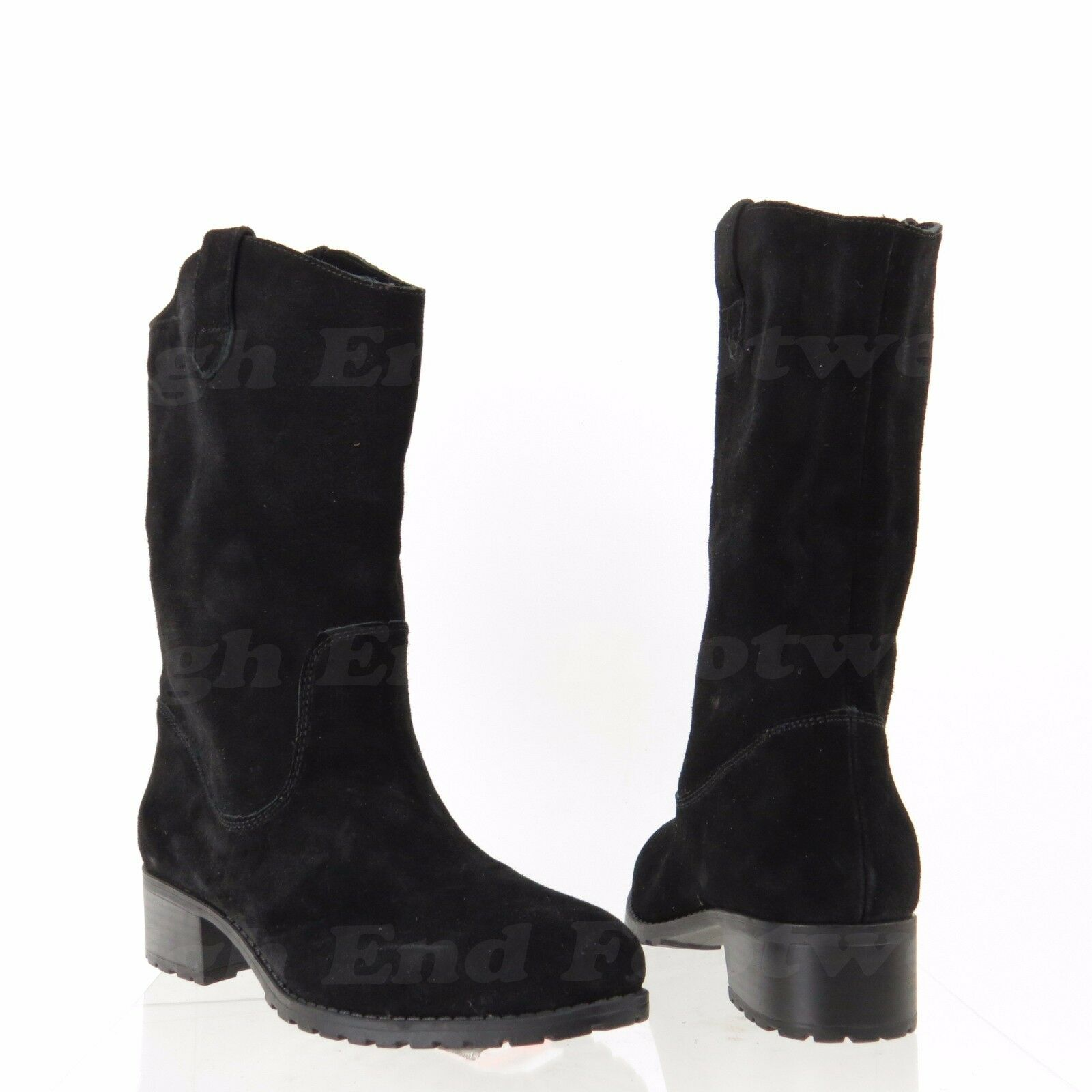 Charles David June Women's shoes Black Suede Pull Up Ankle Boots Size 6 M NEW