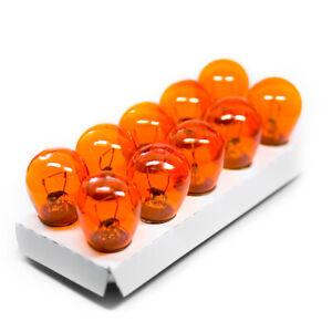 10-x-BAU15s-S25-PY21W-21W-Pera-Lampada-Indicatore-Lampadina-Giallo-Arancione-12V