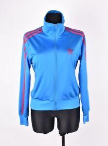 Adidas-Femme-Pull-Veste-de-Survetement-Logo-sur-L-039-Arriere-Taille-38