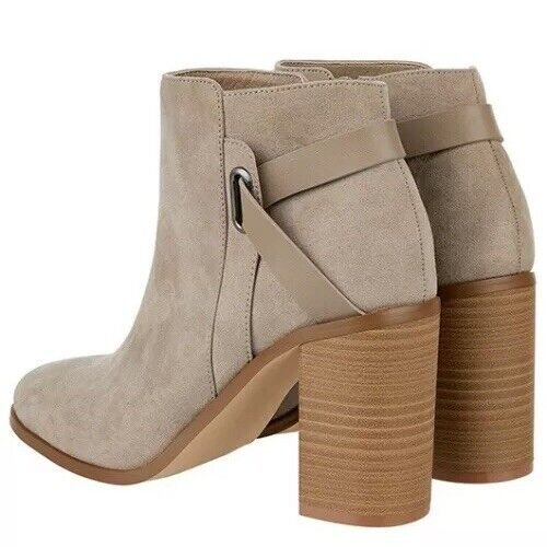 Monsoon Women,s Grey UK 8 Chunky Chunky Chunky Heeled ( Sally Strap Ankle Boot ) BNWT 8daf3d
