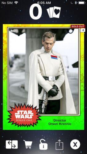 Topps Star Wars Digital Card Trader Superlaser Scientists Director Krennic Meld