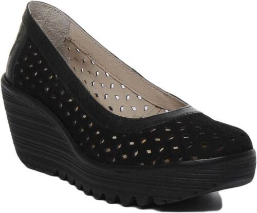 Cuir Taille Ytec Plateforme Chaussures London Noir Noir 014 Richelieu Fly 38 Femme 0OPN8wXnk