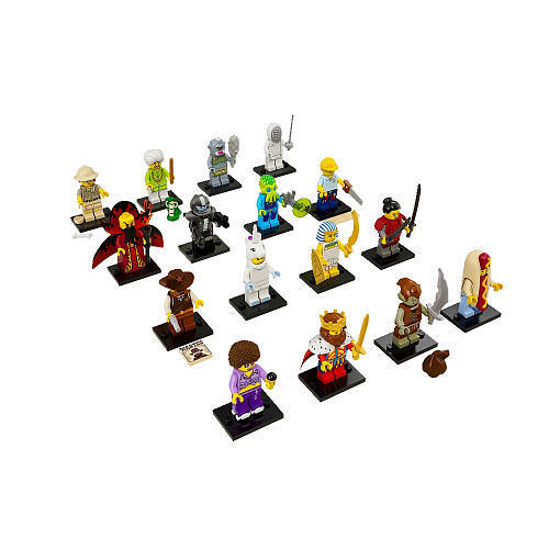 Series 13 Minifigures Complete Set of 16 71008 New in Pkg LEGO