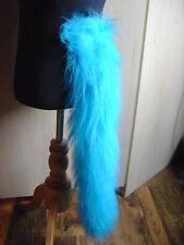 Coda Animale Turchese Blu Lusso PELLICCIA SINTETICA PILE Costume Coda 28 pollici di lunghezza