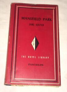 Mansfield-Park-Jane-Austen-Pantheon-Books-Novel-Library-1949-Rare-w-DJ