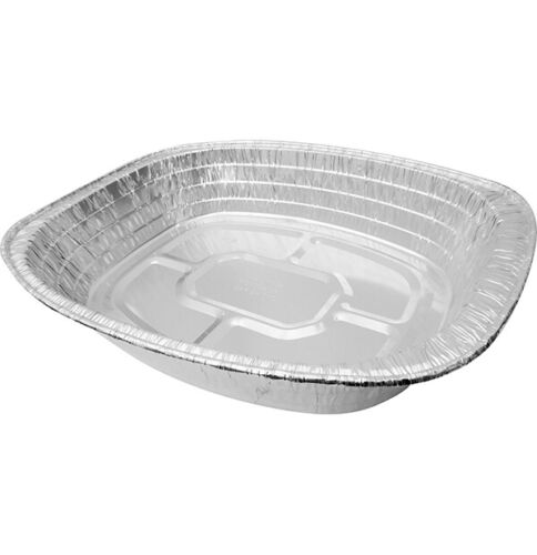 10-100 Aluminum Foil Tin Tray Disposable BBQ Roasting Oven Bakeware 46CM