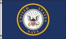 United States Navy Flag USN Emblem Banner US Military Pennant New 3x5 nylon poly