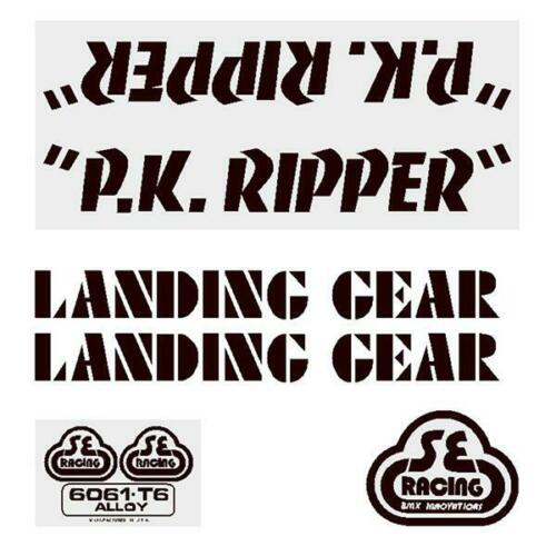 P.K Ripper Decal set black on clear