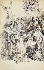Joseph Marius Jean AVY(1871-1939)MARSEILLE Dessin original Maignan Léon Bonnat