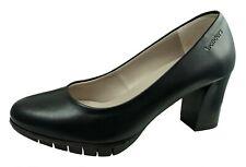 Wonders Zapatos De Salon Para Mujer Piel Negro Ref.I-6060