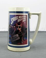 Spuds Mackenzie Rock & Roll Party Bud Light Thermo Serv Beer Stein - Made in USA