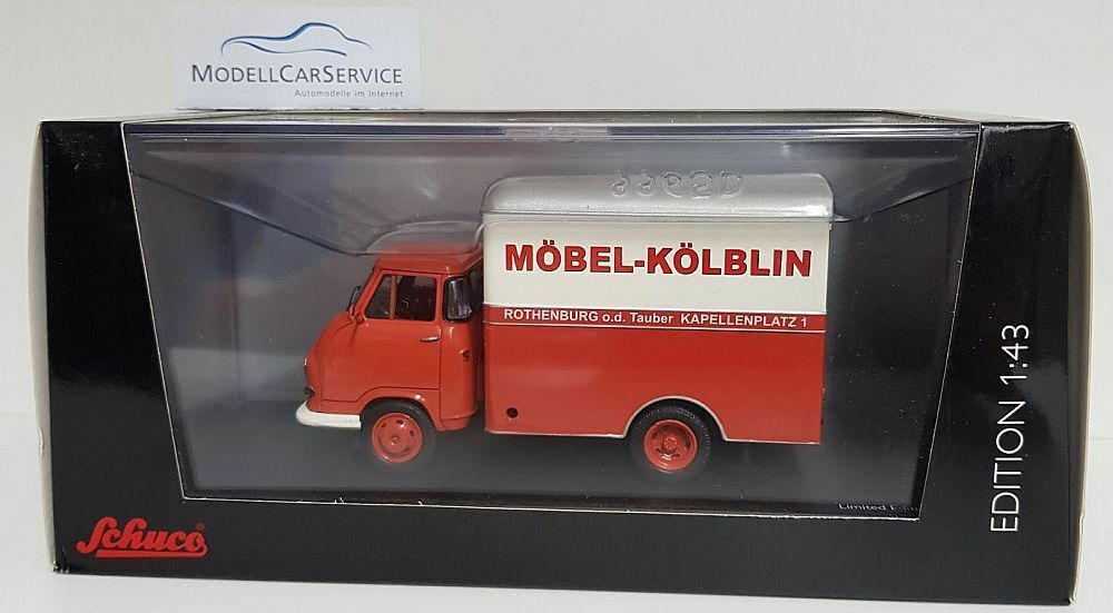 Schuco 1 43  03235 Hanomag Kurier Kastenwagen  Möbel Kölblin - Rothenburg o.d.T   | New Style