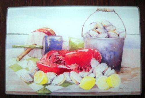 Lobster Cutting Board Clams Buoy Hot Plate Seafood Glass Counter Saver