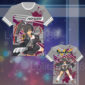Anime Senran Kagura Homura T-shirt Tee Tops Summer Short Sleeve Cosplay Costume