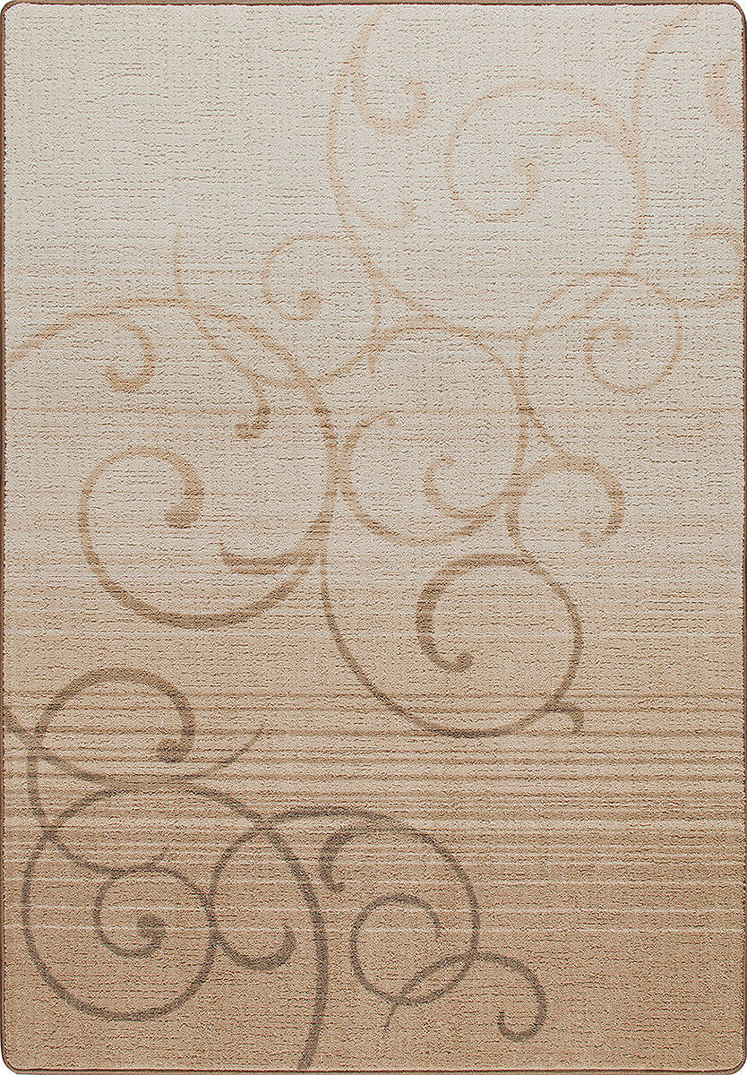 2x4 Milliken Whispering Clay Casual Scrolls Area Rug - Approx 2'8 x3'10