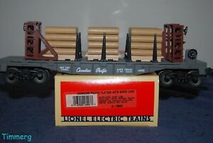 Lionel-Trains-6-16903-CP-Canadian-Pacific-Flat-Car-With-Wood-Load-MM