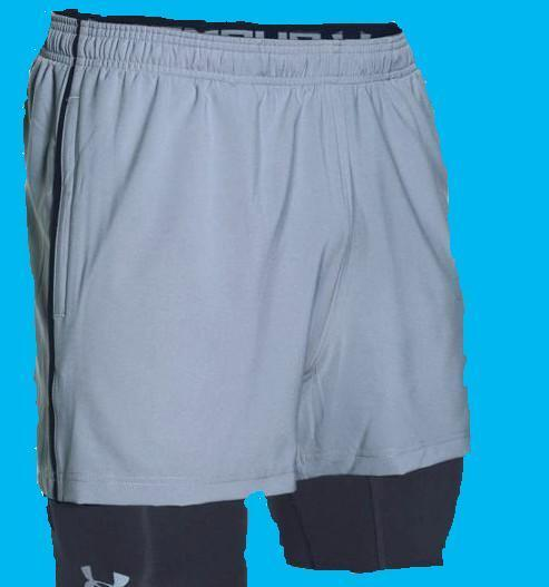 Under Armour #1271948 Men/'s Mirage 2-in-1 Training Shorts Grey M L XL XXL NWT