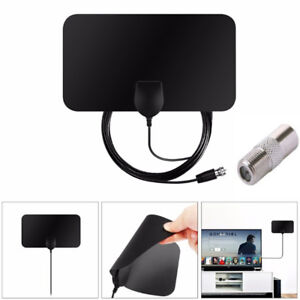 TV-Antenna-HDTV-DVB-T2-Flat-HD-Digital-Indoor-Amplified-50-Mile-Range-TVFox-HO