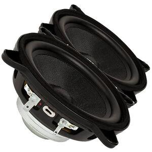 "Pair Faital PRO 4FE32 4"" Neodymium FullRange Line Array Woofer Speaker 4ohm 60W"