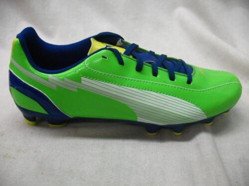 Puma 102595 EvoSpeed 5 FG Firm Ground JR Athletic Soccer Cleats Green Blue Youth