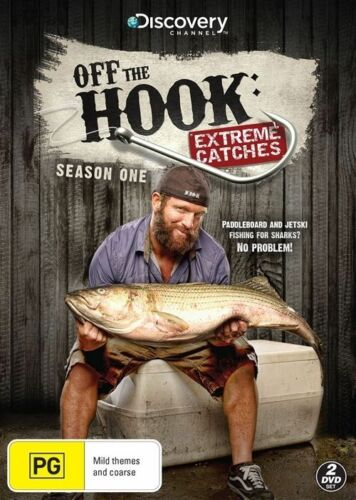 1 of 1 - Off The Hook - Extreme Catches: Season 1 (DVD, 2014, 2-Disc Set), NEW SEALED R4