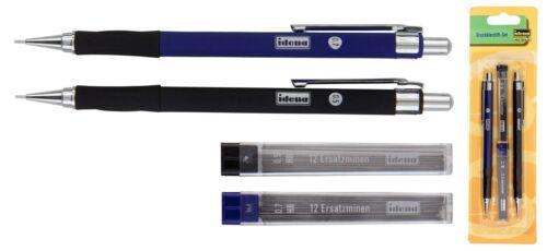 Idena Druckbleistift Bleistift Set Feinminenstift 0,5mm /& 0,7mm HB 510338 Neu