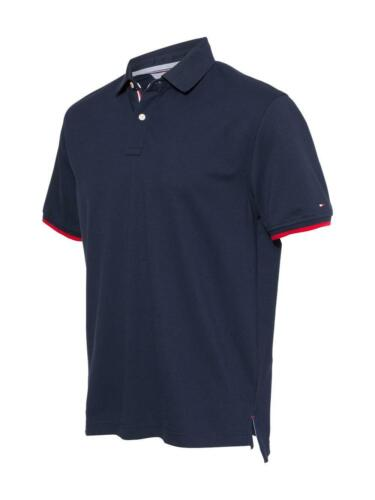 TOMMY HILFIGER  Sanders Tipped Cotton Pique Sport Shirt NEW Men/'s Polo