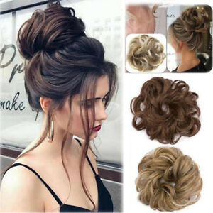 US-Real-Natural-Curly-Messy-Bun-Hair-Piece-Scrunchie-Hair-Extensions-as-Human