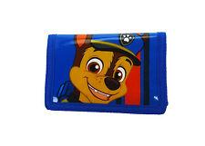 Paw Patrol Chase Tri-Fold Wallet Hook and Loop Blue Kids Boys