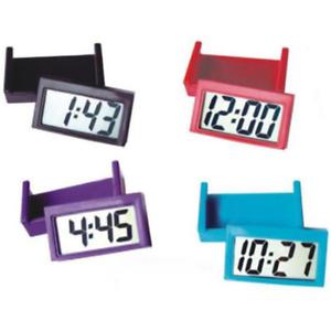 Useful Car Auto Digital Clock LCD Screen Self-Adhesive Bracket Desk Dashboard