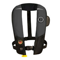 Mustang Deluxe Hit Automatic Inflatable Pfd Hydrostatic Life Vest Black Md3183