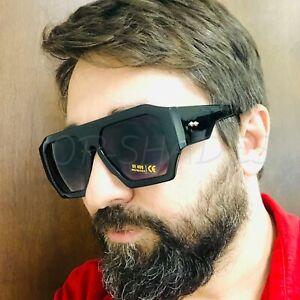 Fashion-Black-Oversize-Big-Designer-Square-Aviator-Retro-Men-Women-Sunglasses