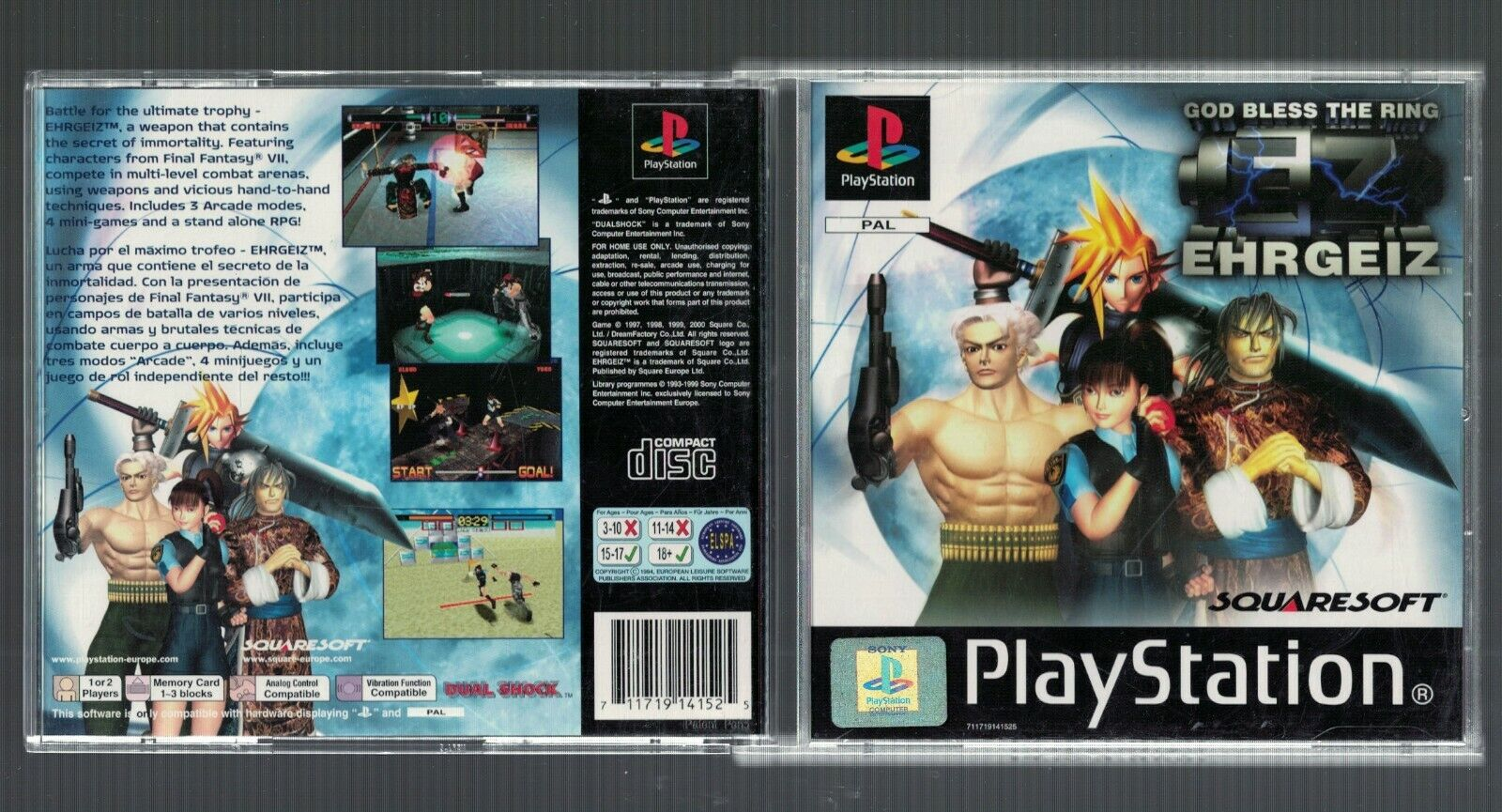 Ps20 Ehrgeiz God Bless The Ring RARE Boxed Complete Game ...