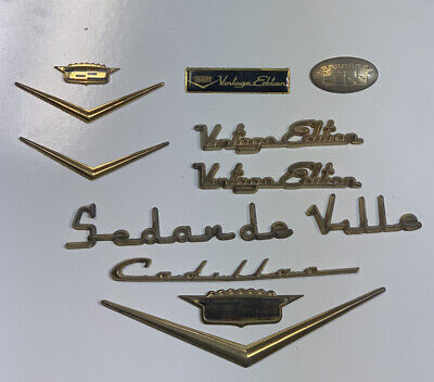 """NEW CADILLAC VOGUE /""""Vintage Edition/"""" EMBLEM GOLD PLATED"""