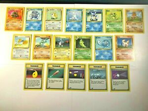 RARE-First-Edition-POKEMON-Base-Set-GERMAN-Card-Lot-Trainer-Star-Diamond-Circle