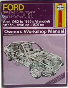 Haynes-Ford-Escort-Sept-1980-85-Tous-Modeles-Proprietaire-Atelier-Manuel
