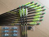 Pse Crossbow Bolts By Victory 2 Dozen Carbon H/moon 20 Free Points