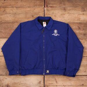 Vintage-pour-homme-Carhartt-bleu-maille-double-nylon-Workwear-Veste-XL-48-034-R8705