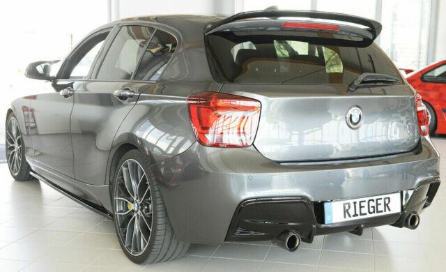 BMW M135i F20 F21 RIEGER Rear Bumper Insert  Diffuser  - Gloss Black (2011-2015)