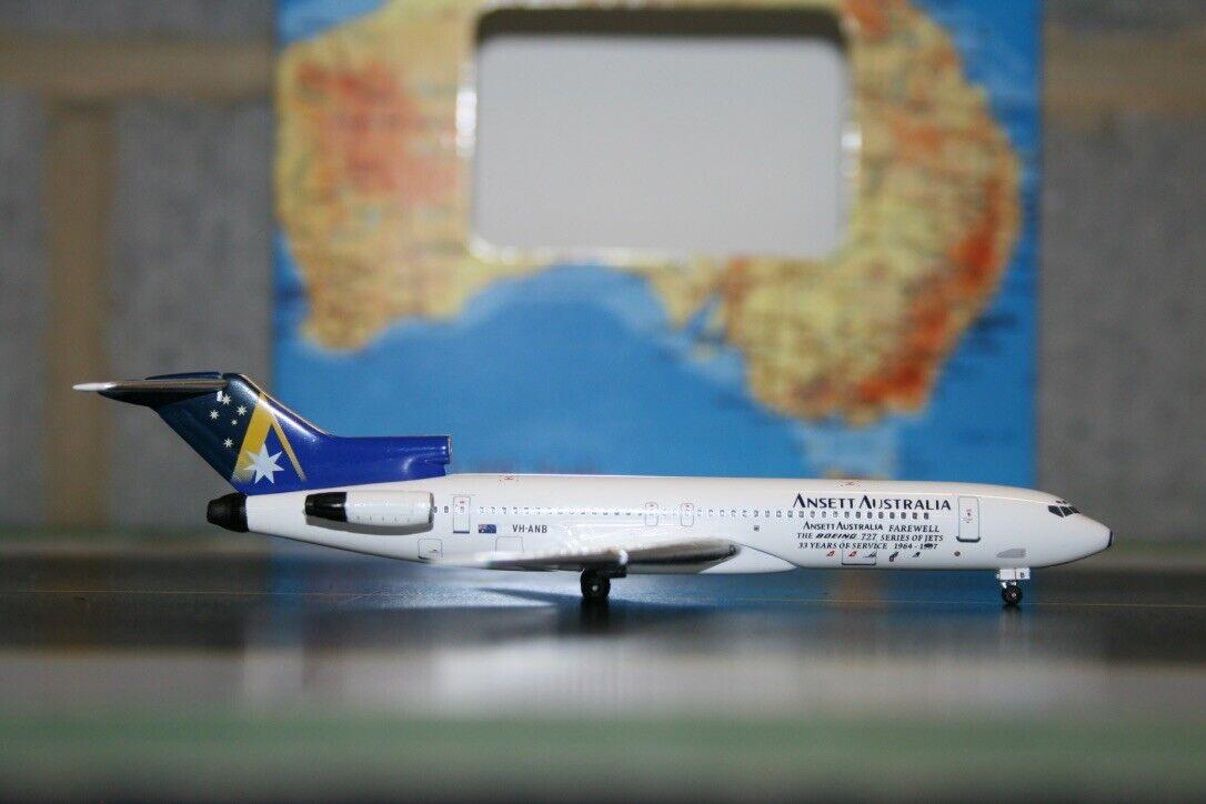 Aeroclassics 1 400 Ansett Boeing 727-200 VH-anb  adiós  (acvhanb) modelo de avión