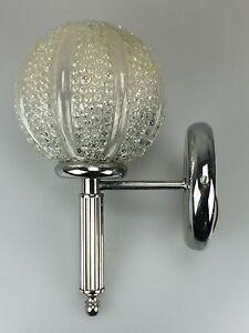 70er-Jahre-Lampe-Leuchte-Wandlampe-Chrome-Kugellampe-Space-Age-Design-60s-70s