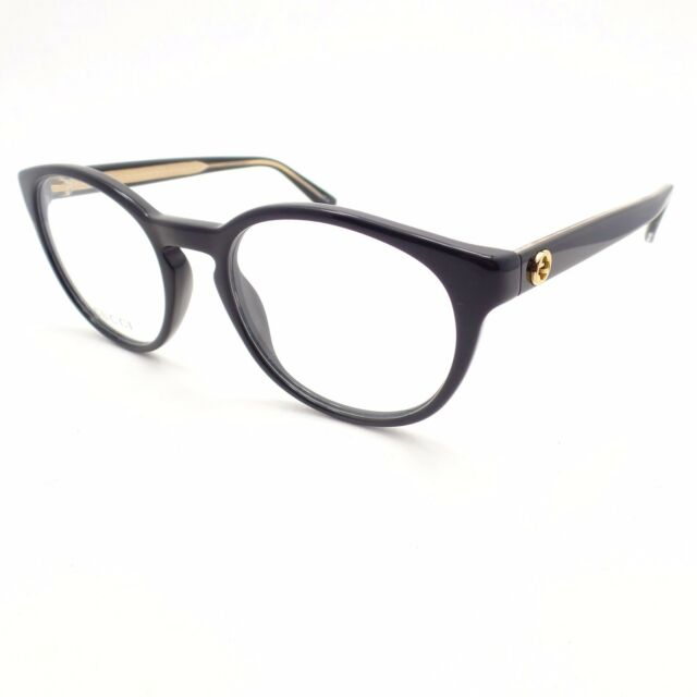 Gucci Eyeglasses GG 3847 Y6c Black Gold RX Italy Authentic Frames ...