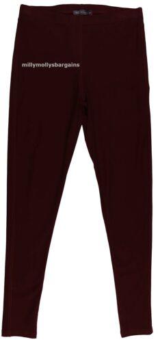 New Womens Marks /& Spencer Red Maroon Leggings Size 20 18 12 10 Long Med Short