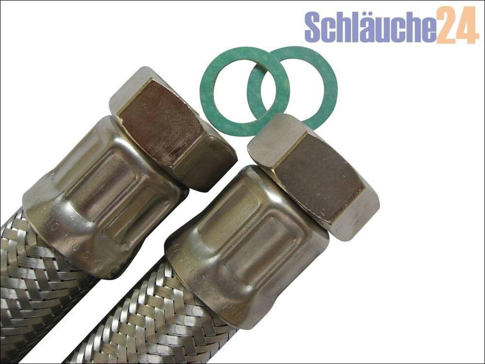 Panzerschlauch, Flexschlauch, DN25, 1 ÜM x 1 ÜM, für TRINKWASSER