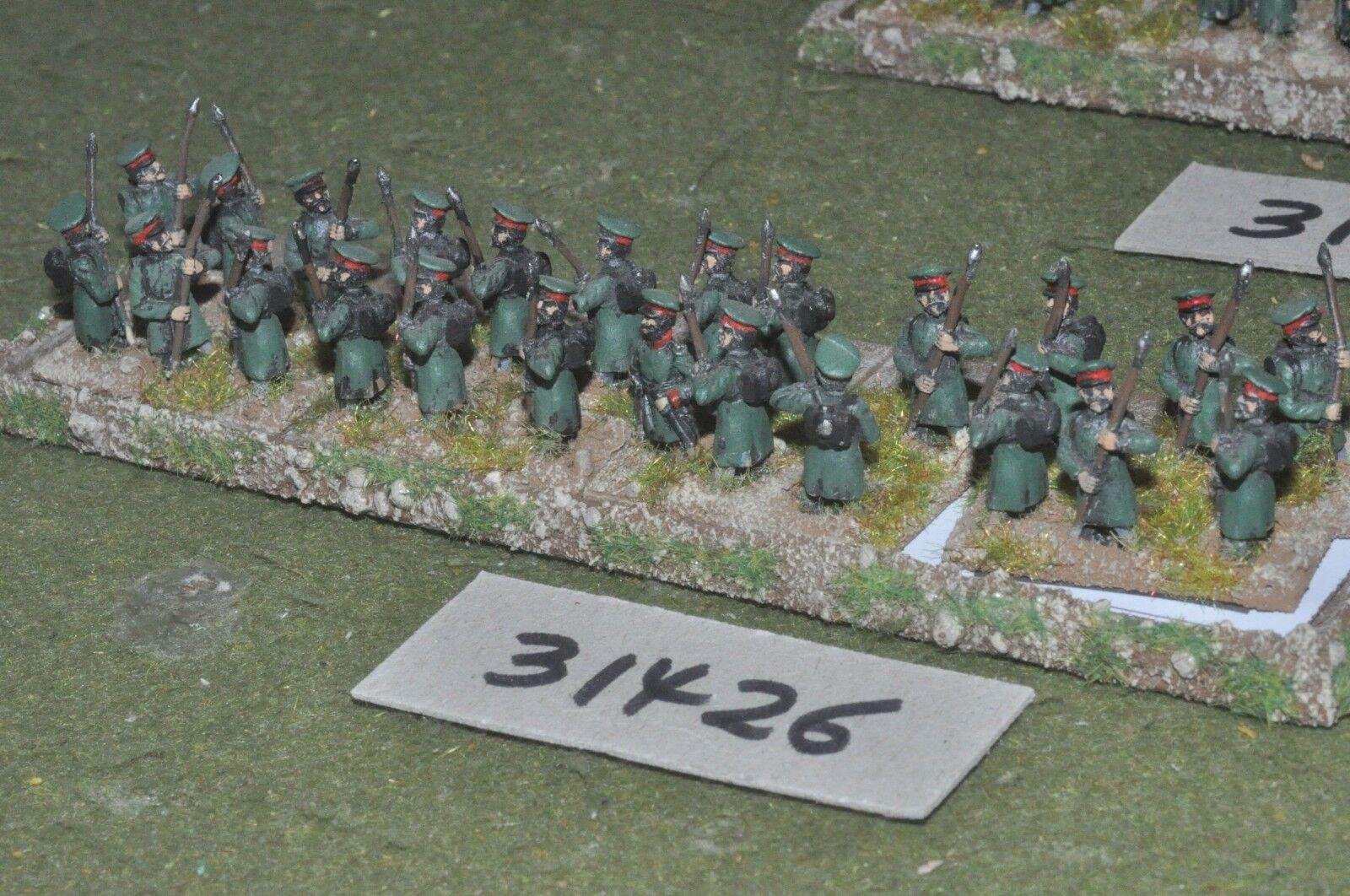 15mm napoleonic   russian - militia 24 figures - inf (31426)