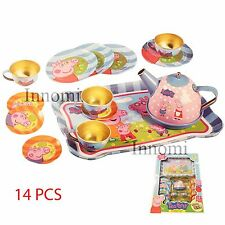 Peppa Pig Tea Party Gorgeous 14 Pcs Kit Teapot Cups Dish Platter Playset Toy Set