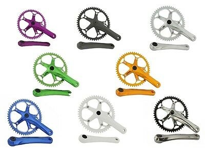 BICYCLE ALLOY CRANK 52T X 175MM CRUISER BMX MTB FIXIE GEAR CYCLING NEW