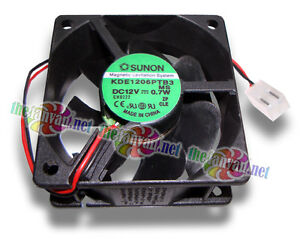 Sunon-60mm-x-25mm-12V-Fan-w-2-Pin-8mm-Power-Supply-Style-Connector-KDE1206PTB3